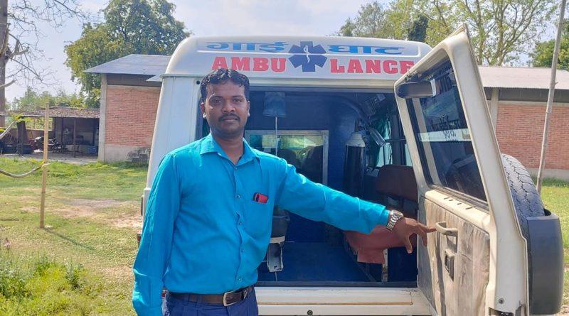 त्रियुगामा निःशुल्क एम्बुलेन्स सेवा